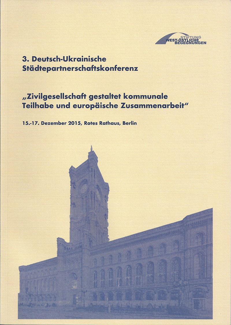 Staedtepartnerkonferenz Titelblatt