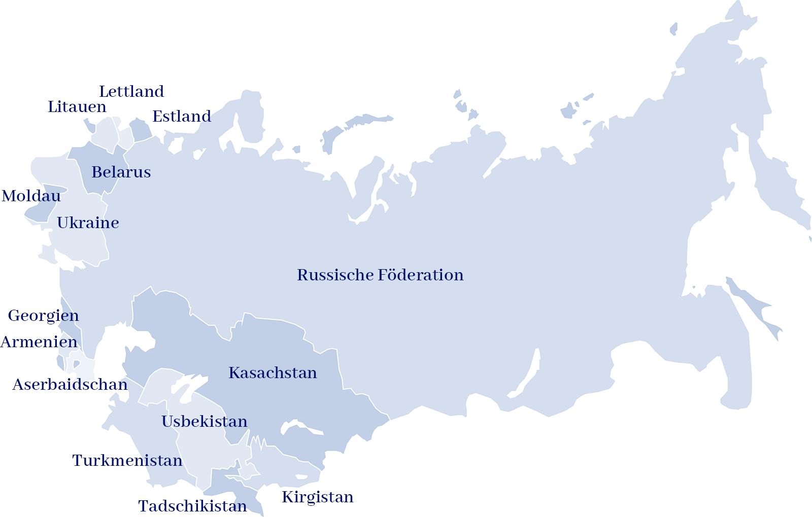 Partnerländer der Stiftung West-Östliche Begegnungen